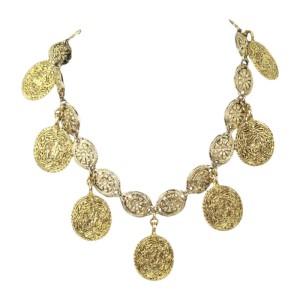 Chanel Vintage Gold Tone Hardware Necklace