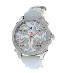 Jacob & Co. Five Time Zone JCMATH12 Stainless Steel with Diamond Quartz 40mm Womens Watch