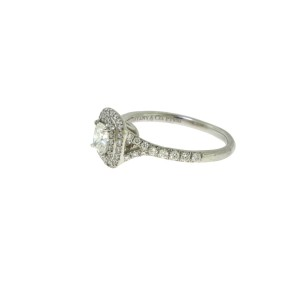 Tiffany & Co. Soleste 950 Platinum with 1.03tcw Diamond Engagement Ring Size 6.5