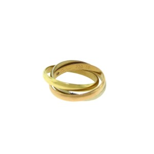 Cartier Trinity 18K Rose, White and Yellow Gold Band Ring Size 6