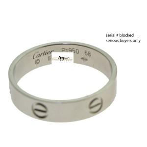 Cartier Love Platinum Wedding Ring Size 12