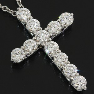 Tiffany & Co. 11P Platinum Diamond Necklace