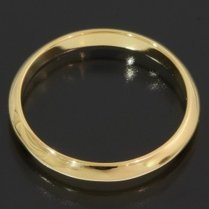 Tiffany & Co. Simple 18K Yellow Gold Wedding Ring Size 4.25