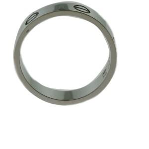 Cartier Love 18K White Gold Wedding Ring Size 10