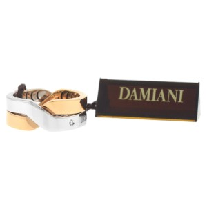 Damiani 20054661 18K White & Rose Gold Diamond Size 8.25 Ring