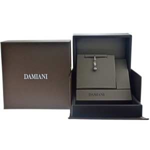 Damiani 20031646 18K White Gold Diamond Pearl Pendant