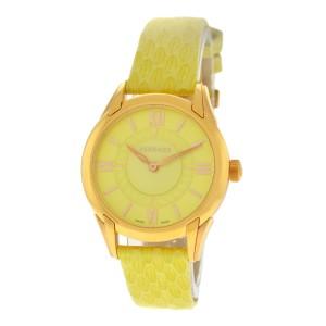 Versace Dafne VFF05 0013 Gold Steel Lime Green Quartz 33MM Watch