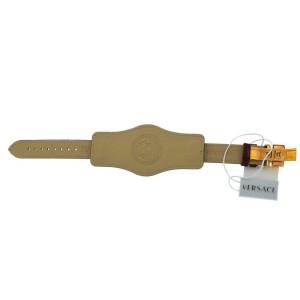 Versace V-Signature VLA03 0014 Gold Plated Burgundy 38MM Watch