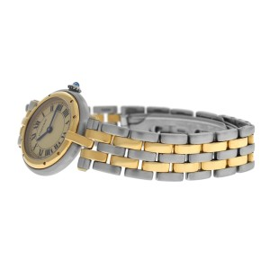 Ladies Cartier Panthere Vendome 1057920 Two Row Gold Steel Quartz 24MM Watch