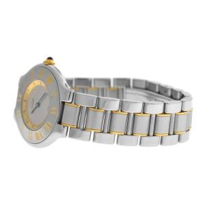 Ladies Cartier Must de Cartier 1330 Quartz Steel Gold 32MM Watch