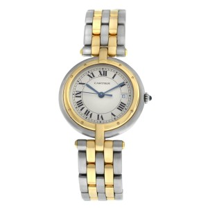 Ladies Cartier Panthere Vendome 183964C Two Row Gold Steel Quartz 30MM Watch