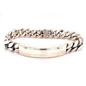 David Yurman Men's Sterling Silver ID Bracelet