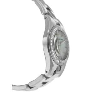 New Ladies Baume & Mercier Linea MOA10013 Steel MOP Diamond 27MM Quartz Watch
