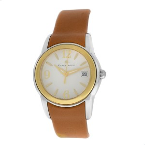 New Ladies Maurice Lacroix Sphere SH1014-SY021-720 Gold Steel $900 Quartz Watch