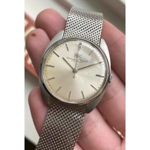 Vintage IWC Manual Wind Silver Dial Cushion Steel Case Cal.403 w/ Bracelet Watch