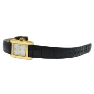 Tourneau Super Oro Quadro Ladies 18K Yellow Gold MOP Quartz 17MM Watch