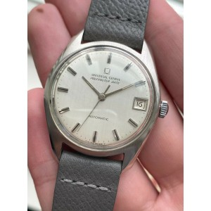 Vintage Universal Geneve Polerouter Date Automatic Micro Rotor Silver Dial Watch