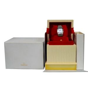 Omega Constellation Quadrella 1586.79 Ladies Diamond MOP Steel Quartz 25MM Watch