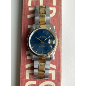 Tudor Prince Oysterdate 74033 Two Tone Automatic Blue Dial w/ Box - Papers Watch