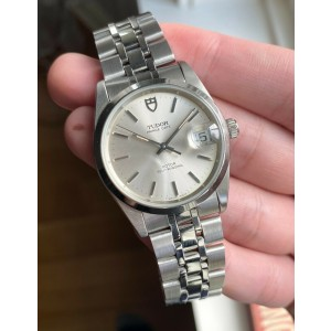 Tudor Prince Date 74000N Automatic Silver Dial Quickset Date Steel Case Watch