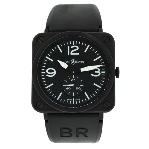 Bell & Ross Aviation BRS-98-PBMC Men Midsize Ceramic Steel Quartz 39MM Watch