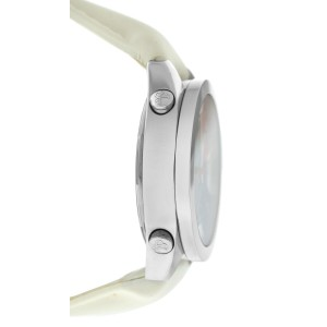 Jacob & Co. Five 5 Time Zone JCM-7 MOP Stainless Steel 40MM Watch White Strap