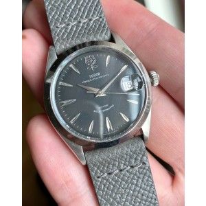 Vintage Tudor Prince Oysterdate 7966 60s Automatic Black Dial Oyster Case Watch