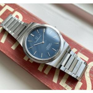 Vintage Omega Constellation Chronometer Automatic Blue Dial w/ Bracelet Watch