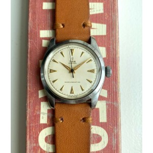 Vintage Tudor Oyster Ref. 7934 50s Manual Wind Cream Dial Oyster Steel Watch