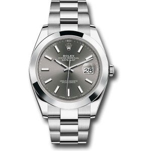 Rolex Oyster Perpetual Datejust 126300 DKRIO Stainless Steel 41mm Mens Watch