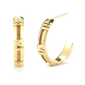 Tiffany & Co. 18K Yellow Gold ATLAS Numerical Hoop Earrings
