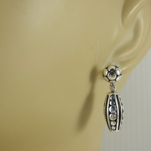 John Hardy Dot Deco Sterling Silver  Earrings