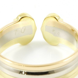 Cartier 18K Yellow/18KWhite Gold/18KRose Gold Three Gold C2 Double C Ring CHAT-116