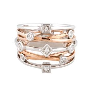 18k Rose Gold Diamonds Ring