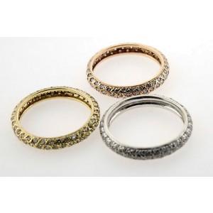 18K Gold & Diamonds Stack Band Set Of 3 Ladies Rings