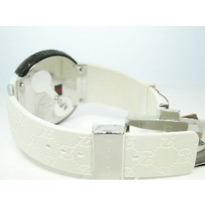 Gucci Digital White Diamond Black Mens Watch