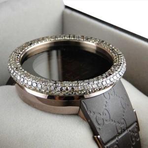 Gucci Digital Ya114209 Brown Diamonds 52Mm Bezel Mens Watch