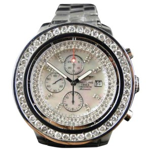 Breitling Mens Super Avenger 1 Row Big 51 Mm Diamond 9 Ct Watch