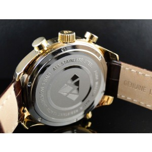 Aqua Master W326 Joe Rodeo Yellow Gold World .75 Ct Diamonds Mens Watch