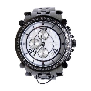 Jojo/Jojino/Joe 2.25 Ct New Mens  Rodeo Metal 56 Black Diamond  Mj-1172C Watch