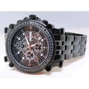Jojo/Jojino/Joe Mj-1172B Rodeo Metal 56 Black 2.25 Ct Diamond  Mens Watch