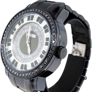 Jojo/Jojino/Joe Rodeo Pj-1037A Metal 56 Black Diamond 2.25 Ct Mens Watch