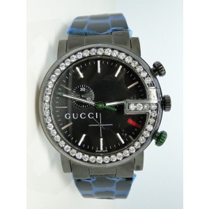 Gucci Ya101331 Pvd 3.5Ct White Diamonds Mens Watch