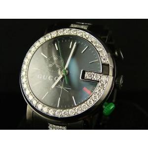 Gucci Ya101331 Mens Brand New 6.0Ct Diamond 101G Black Pvd Watch