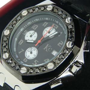 Techno Com Kc/ Jojo Joe Rodeo Black 2.0 Ct Diamond Mens Watch