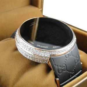 Gucci Sport I-Gucci YA114222 XL Digital Latin Grammy Rose 5.5 Ct Diamond Watch