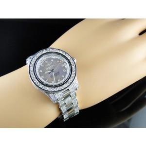 Breitling Aeromarine Pink Colt Ocean 9.5 Ct Diamond Ladies Watch
