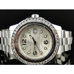 Breitling Superocean 45mm 5 Ct Diamond Bezel Mens Watch