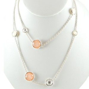 Ippolita Sterling Silver Long Blush Mother of Pearl Wonderland Chain Necklace