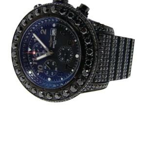 Breitling Super Avenger Black On Black 42 Ct Diamond Watch